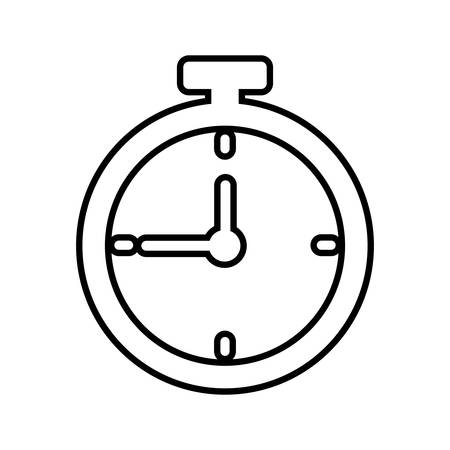 chronometer: chronometer time silhouette sport icon. Isolated and flat illustration. Vector graphic
