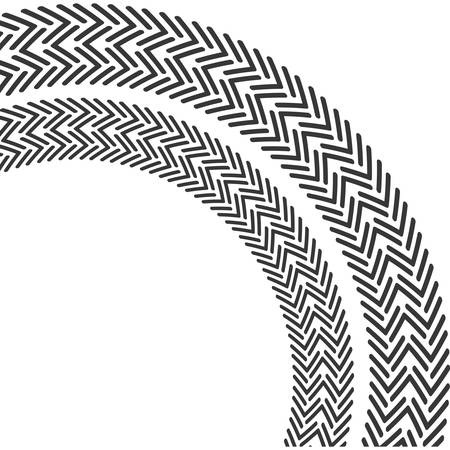 print wheel tire shape black icon. Isolated and flat illustration. Vector graphic