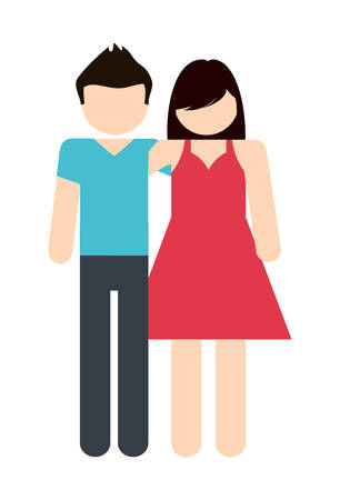 Avatar Family design represented by couple icon. Colorfull and Isolated illustration. Illustration