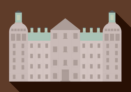 palace: palace berlin architecture building germany. Colorfull illustration Illustration