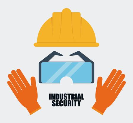 seguridad industrial: el icono del casco de color amarillo. Seguridad Industrial. ilustración vectorial de Colorfull