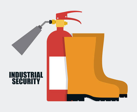 Extinguisher boots icon. Industrial Security. Colorfull Vector illustration