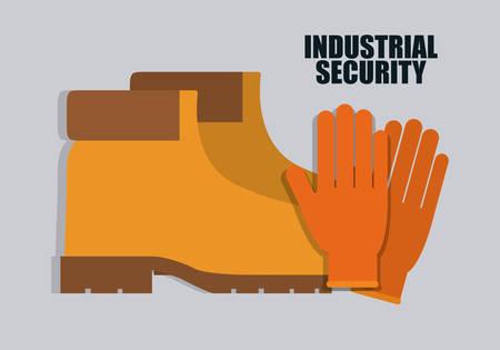 seguridad industrial: Goves y botas de icono. Seguridad Industrial. ilustración vectorial de Colorfull Vectores