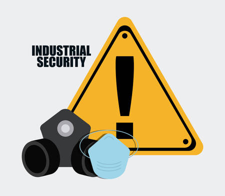 Gas mask road sign icon. Industrial Security. Colorfull Vector illustration