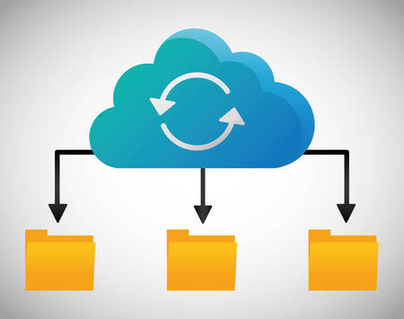 File archive data center web hosting cloud computing icon. Flat and Colorfull illustration. Vector graphic Illustration