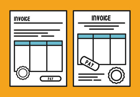 document paper invoice payment icon. Flat and Colorfull illustration. Vector graphic Vektorové ilustrace