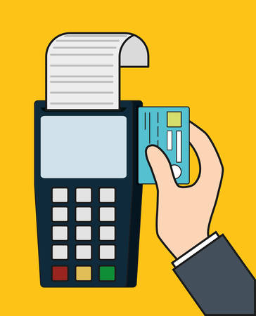 dataphone credit card invoice payment icon. Flat and Colorfull illustration. Vector graphic Illustration