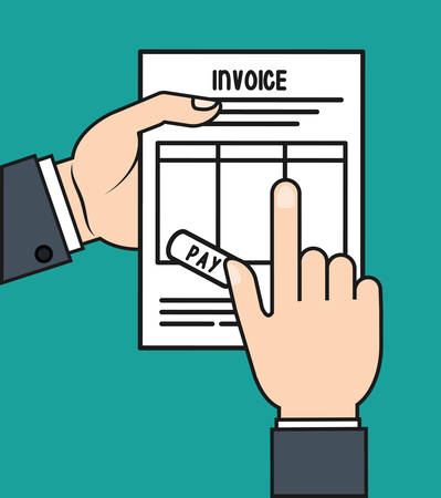 account form: document paper invoice payment icon. Flat and Colorfull illustration. Vector graphic