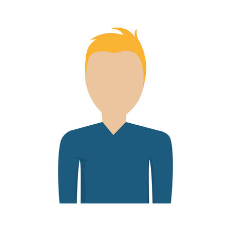 blond hair: man male avatar person blond hair icon. Isolated and flat illustration. Vector graphic