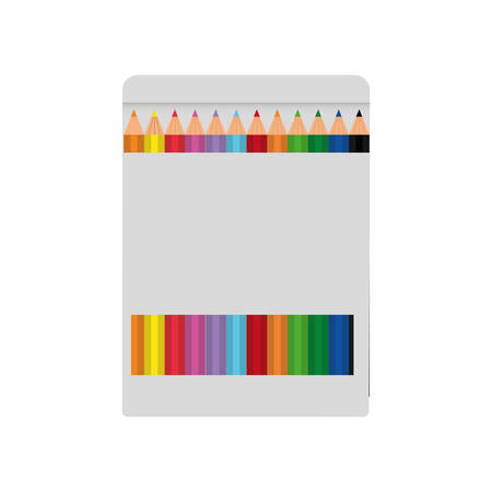 secretarial: pencil colors box instrument icon. Isolated and flat illustration. Vector graphic