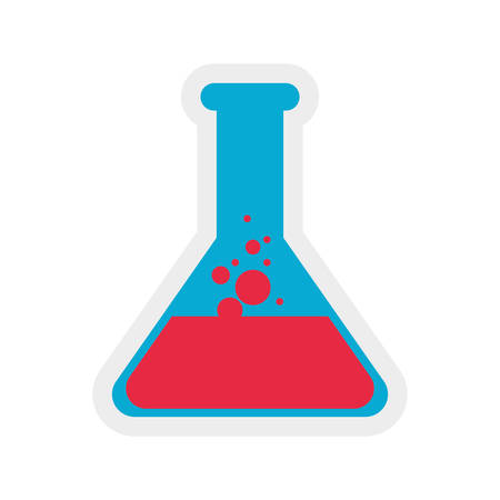 flask liquid science laboratory icon. Isolated and flat illustration. Vector graphic Illustration