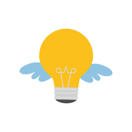 big idea: light bulb wings big idea creativity icon. Isolated and flat illustration. Vector graphic