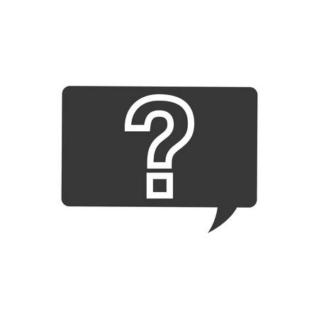 quality questions: question mark bubble ask why icon. Isolated and flat illustration.