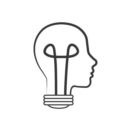 big idea: light bulb head big idea creative icon. Isolated and flat illustration. Vector graphic Illustration