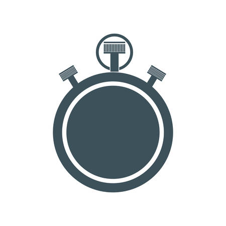 chronometer: chronometer time instrument seconds icon. Isolated and flat illustration. Vector graphic Illustration