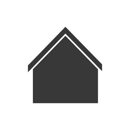 residential neighborhood: house home silhouette real estate building icon. Isolated and flat illustration. Vector graphic
