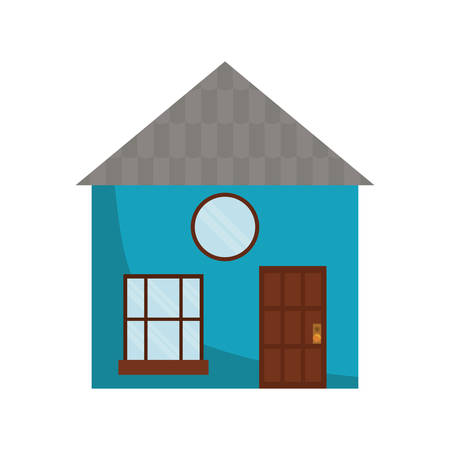 residential neighborhood: house home real estate building icon. Isolated and flat illustration. Vector graphic Illustration