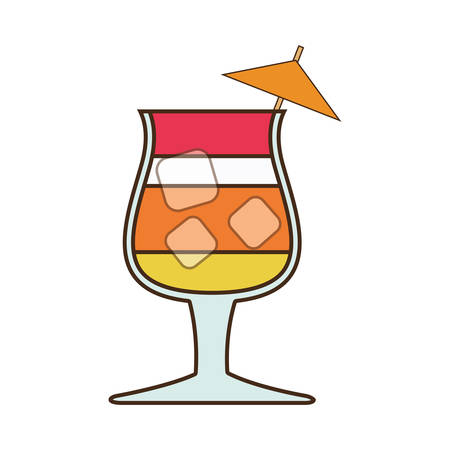 cocktail umbrella: cocktail umbrella glass alcohol drink beverage icon. Isolated and flat illustration, vector