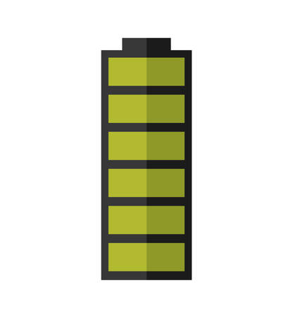 green power: green battery power energy icon. Isolated and flat vecctor illustration