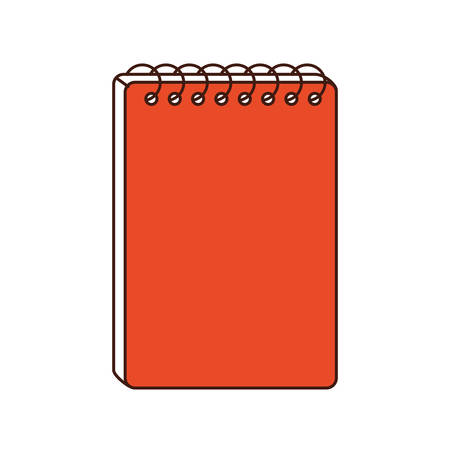 school class: notebook class school instrument icon. Isolated and flat illustration