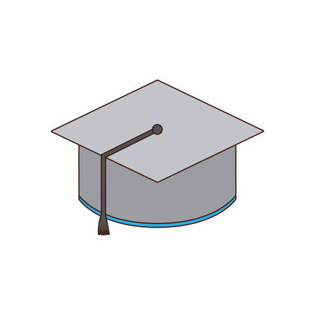 school class: graduation cap class school icon. Isolated and flat illustration