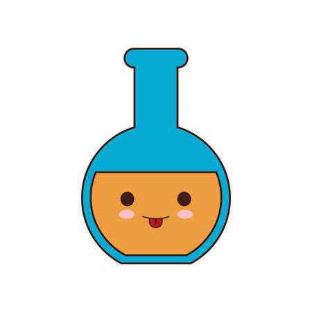 school class: flask class school instrument icon. Isolated and flat illustration Illustration