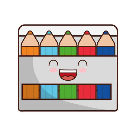 school class: colors face class school instrument icon. Isolated and flat illustration