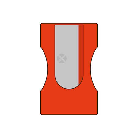 school class: pencil sharpener class school instrument icon. Isolated and flat illustration