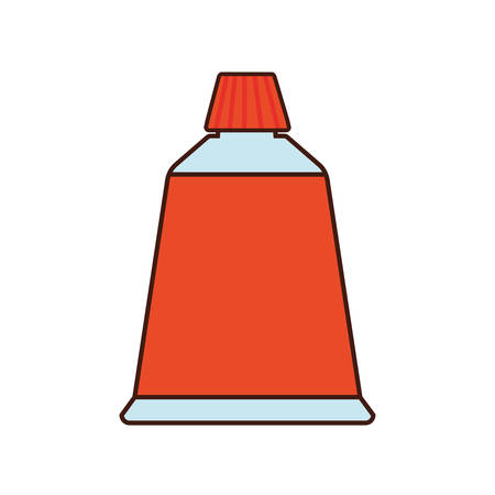 school class: color bag class school instrument icon. Isolated and flat illustration Illustration