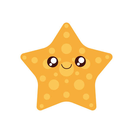 sea star: sea star   cute little icon. Isolated and flat illustration