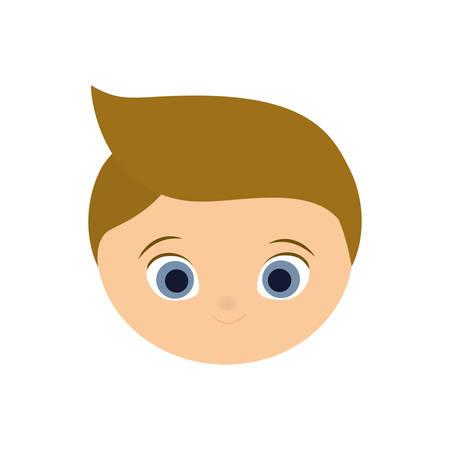 blond: boy kid blond head cartoon icon. Isolated and flat illustration