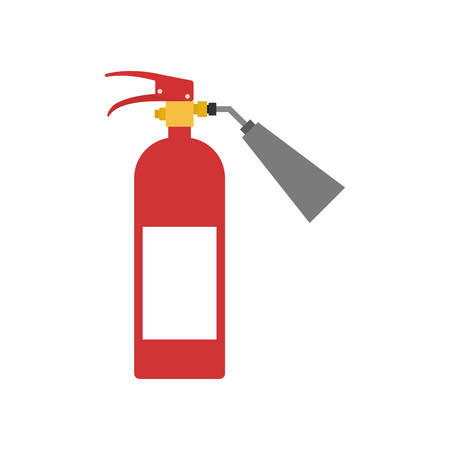 seguridad industrial: extintor de icono de seguridad seguridad industrial. ilustración y plana