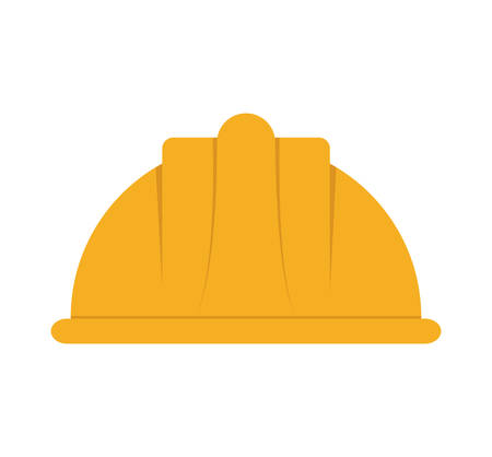 detection: helmet industrial security safety icon. Isolated and flat illustration