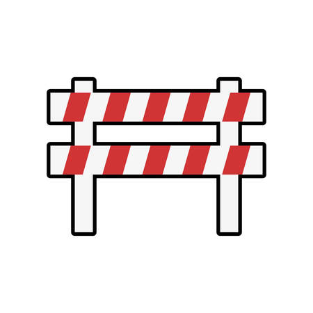 security barrier: barrier industrial security safety icon. Isolated and flat illustration