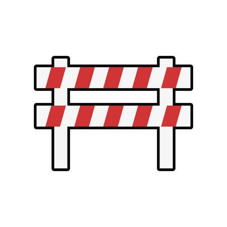 seguridad industrial: icono de seguridad seguridad industrial barrera. ilustración y plana