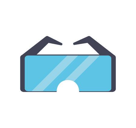 seguridad industrial: icono de seguridad seguridad industrial de vidrio. ilustración y plana Vectores