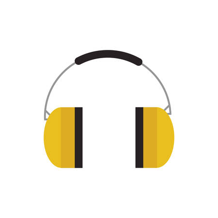 seguridad industrial: headphone industrial security safety icon. Isolated and flat illustration Vectores