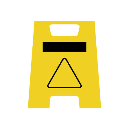 detection: road sign industrial security safety icon. Isolated and flat illustration