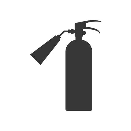 industrial security: extinguisher industrial security safety icon. Isolated and flat illustration