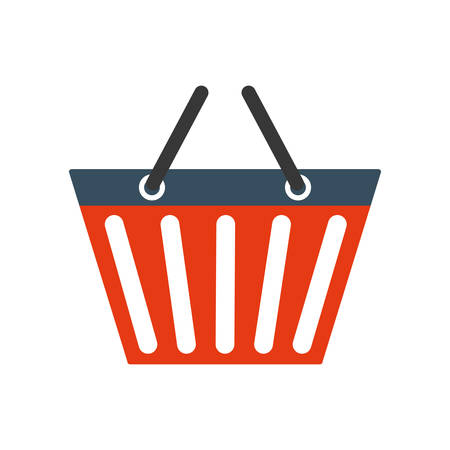 retail display: shopping basket commerce market icon. Isolated and flat illustration.