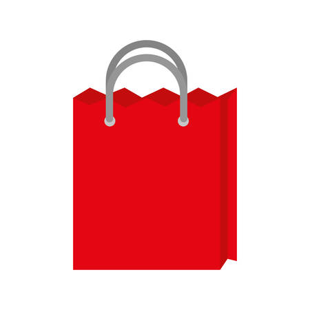 retail display: shopping bag commerce market icon. Isolated and flat illustration.