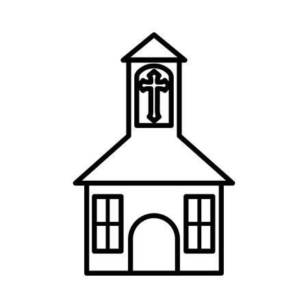 belief: church building religion belief icon. Isolated and flat illustration. Illustration