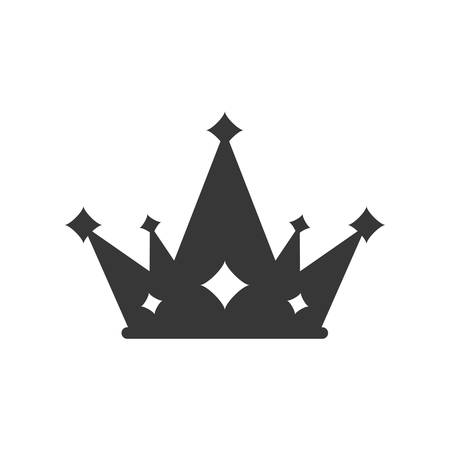crown silhouette royal king icon. Isolated and flat illustration. Illustration