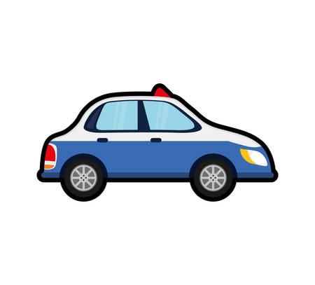 police car auto vehicle transportation icon. Isolated and flat illustration.