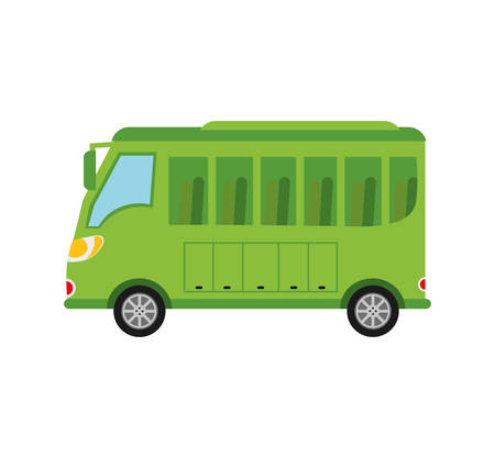 commerce and industry: bus vehicle transportation icon. Isolated and flat illustration. Illustration
