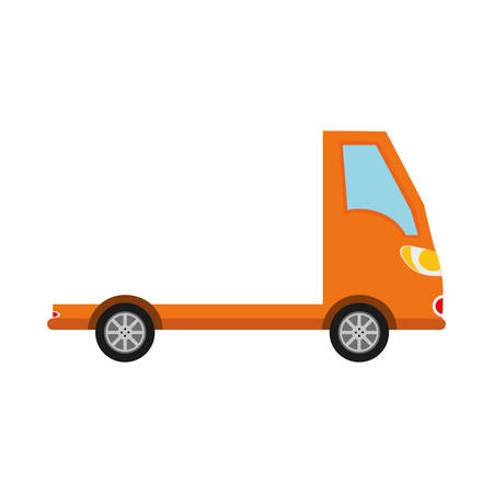 truck vehicle transportation icon. Isolated and flat illustration.