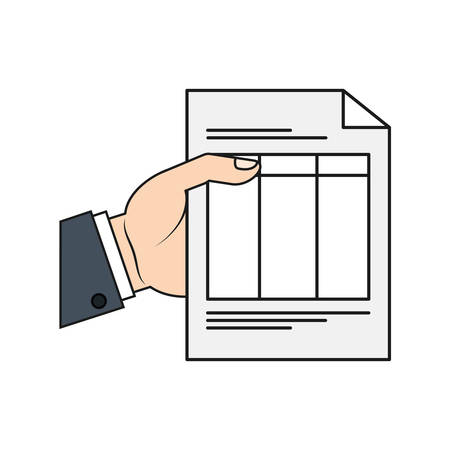 piece of paper: document piece paper white icon. Isolated and flat illustration