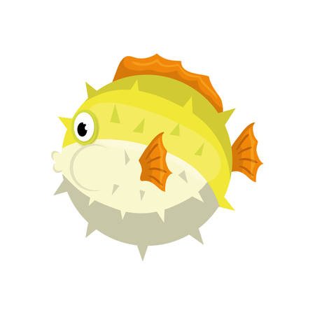 submerged: fish sea life animal cartoon icon. Isolated and flat illustration. Vector graphic