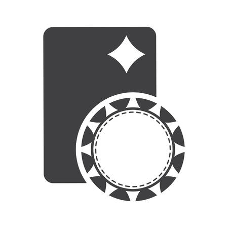 losing money: chip card casino vegas icon. Flat and Isolated design. Vector illustration