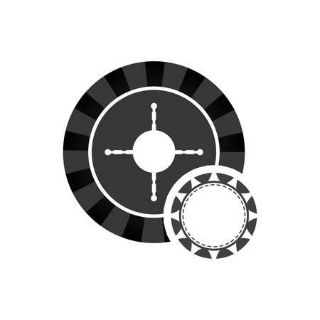 ip: roulette ip chcasino vegas icon. Flat and Isolated design. Vector illustration
